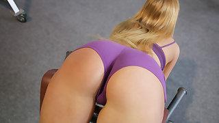 Stretching Her Tushy