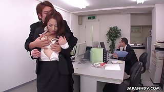 Obsessed with sex dudes fuck X penman Yuri Kawana in the office