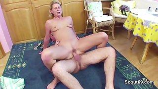 Step-Son Seduce 43yr old German Step-Mother to Make Cherish