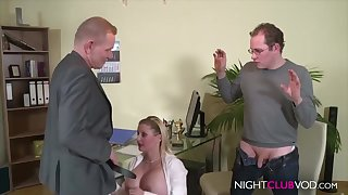 German Office Threesome Orgy After Work Hd Dusting - cock sucking