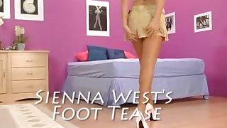 Sienna Wests Foot Tease