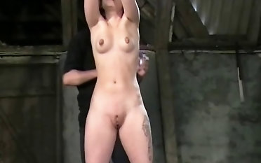 Extraordinary bondage & come apart nip and vulva torment for a adorable dark-haired