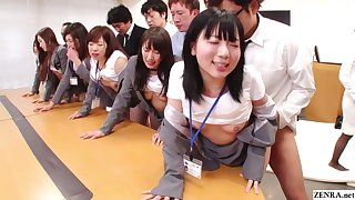 JAV huge group copulation nomination party in HD with Subtitles