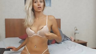 Naughty Blonde Pleasures Her Attractive Pussy
