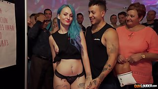 Lucky tramp gets to fuck tattooed Jeny Rogers at a party