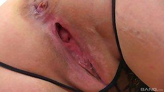 Solo mature amateur BBW blonde MILF model Lacey Starr strips