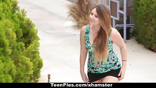 TeenPies - Creampied Apart from Her Best Public limited company Dad