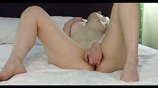Beautiful buxom sexy hottie Sabrina pets their way own wet pussy