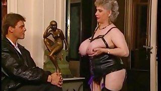 Depressed fat granny hardcore porn scene - retro video