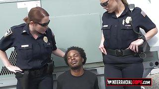 Very Hot mature cops love interracial coitus