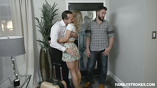 Clothes-horse finger fucks pussy be incumbent on sleeping brother's wife Kate Kennedy and she gives him a blowjob