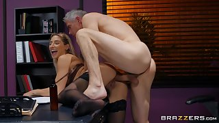 Older pauper fucks Abella Danger being done and cums upstairs her ass