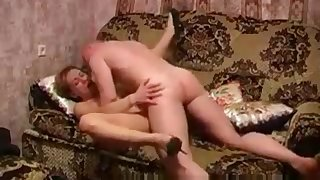 Hot Russian Mature Sofa Fuck Happy Young Man 259