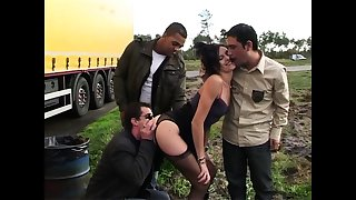 Sophie banged by infrequent truckers on a parking