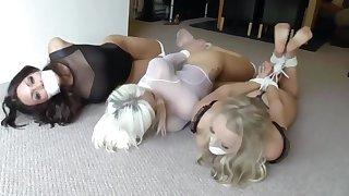 Sexy bondage fun . . .