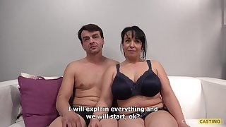 Full-Bosomed Mother Gets Naughty At The Casting
