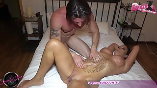 German big tits milf in oil couple sexual intercourse