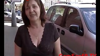 POV pussy fuck around blonde Czech mature Jana