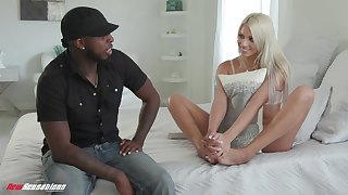 Sex-crazy blondie Chanel Grey gets intimate with her black friend