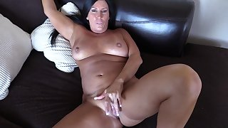 Nasty tanned MILF imposing POV mating