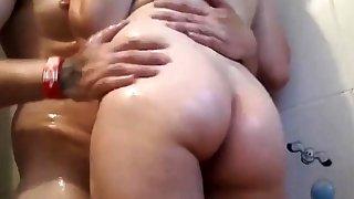 Hot Amateur Couple Shower Fucking
