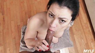 Elsewhere a gag reflex, Cassandra Cain gives the best POV deepthroat burst