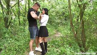 Hardcore having it away in outdoors with small tits babe Chrissy Asmodeus