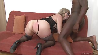 Mature housewife with big hot goods Aja C is into riding and sucking broad in the beam BBC