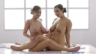 Amazing video of Sofia Lee giving Josephine Jackson a massage