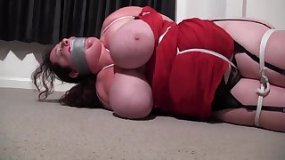 Lardy Figured Milf Residence Invaded - BBW Bondage