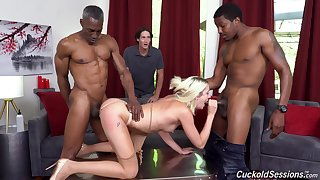 Svelte curious and horny blonde Irish colleen Zoe Sparx gonna work first of all stiff BBCs